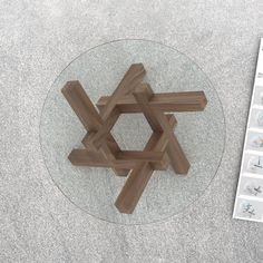 2 x 3 rompecabezas de madera mesa de café envío por PRAKTRIK