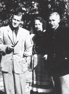 Armin Mohler, Gretha & Ernst Jünger, 50's.