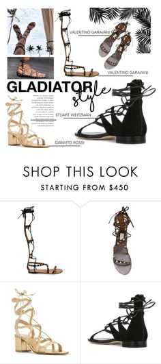 """""""Slave Sandals"""" by tessabit ❤ liked on Polyvore featuring Valentino"""