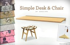Awesims Simple Desk for The Sims 3 (Plus extras! Best Sims, Sims 3, Sims 4 Mods, Maxis, The Sims 4 Packs, Sims 4 Bedroom, Sims 4 Cc Makeup, Sims Building, Play Sims