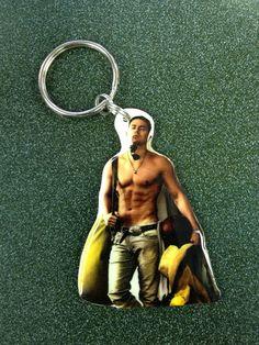Cause everyone should have a shirtless keychain of their husband.....