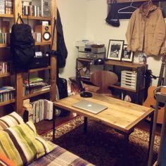 男性で、1R、一人暮らしのセリア/イス/ラスティックパイン/男前/ディアウォール/椅子…などについてのインテリア実例を紹介。「モノで溢れる8畳空間。」(この写真は 2015-12-09 21:40:39 に共有されました)