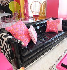 Living area - Barbie Suite, The Palms, Las Vegas