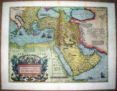 RARE-ORTELIUS-MAP-OTTOMAN-TURKISH-EMPIRE-TURKEY-SAUDI-ARABIA-MIDDLE-EAST-ISLAMIC