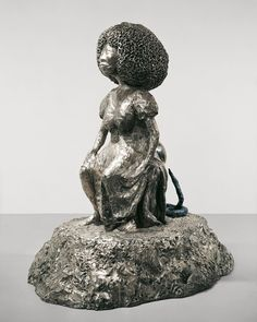He took inspiration from the Catalan figure 'El Caganer' who regularly appears in Nativity Scenes in the region. ⠀ 'Silver Moon', evoking associations with fertility, given its ability to foster growth in plants and produce. The sculpture is a continuation of themes, motifs and mediums that would define Ofili's career. ⠀ Courtesy Gary Tatintsian Gallery and the artist.  #chrisofili #silvermoon #sculpture #youngbritishartists #yba #elcaganer #artadvisory #artcollector #garytatintsiangallery Chris Ofili, Nativity Scenes, Human Condition, Fertility, Contemporary Art, Career, Moon, Sculpture, Statue