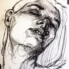 Woman Face Study - Elly Smallwood
