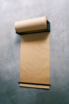 // Wall mounted paper roller #studio