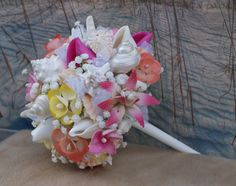 New Tropical 2015 Beach Wedding Seashell by SlyCreationsBouquets