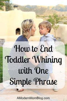 I recently discovered how to end toddler whining with one simple phrase. Read this article to learn the key phrase that will change your parenting forever