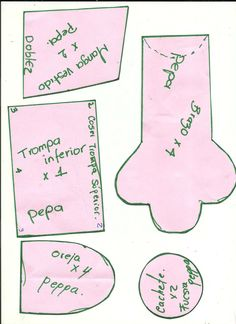 Molde Peppa Pig, Sewing Patterns, Dolls, Party, Diy, Printables, Album, Videos, Google