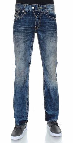 True Religion Men's Flap Pocket Red Weft Straight Jean Size 40 NWT $273 #TrueReligion #ClassicStraightLeg