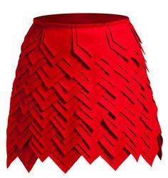 Amazing skirt. Falda de retales geométricos de Yono Taola. Foto: D.R