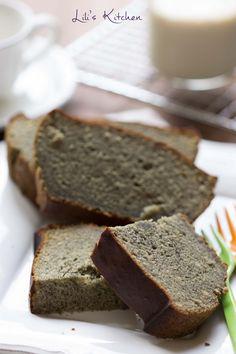 Cake sans gluten à la crème de sésame noir