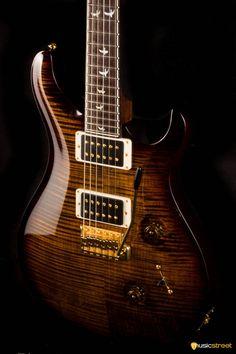 USED - PRS Custom 24 Wood Library - Black Gold - at MusicStreet UK