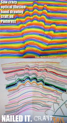 Optical illusion hand drawing - ur doin' it wrong #craftfail I've tried it and its very hard to get even similar to the picture