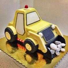 bulldozer birthday cake