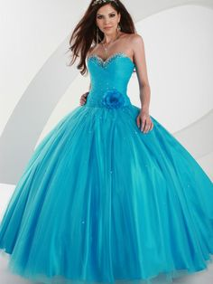 Ball Gown Strapless Sweetheart Neckline with Hand Made Flower and Beadings  Floor Length Organza Satin Quinceanera Dress 5647d0c88323