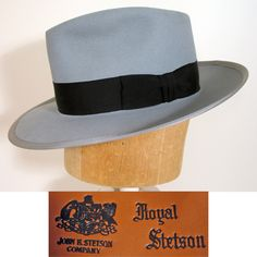 031feb541a9 1940s Dove Gray Royal Stetson Whippet Fedora Hat SZ 7 Caps Hats