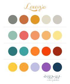 Color Palettes - Laranja