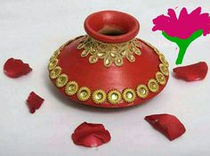 Diwali Decorations At Home, Festival Decorations, Wedding Decorations, Diy Craft Projects, Projects To Try, Diy Crafts, Wedding Prep, Wedding Events, Kalash Decoration