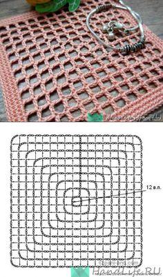 Ripple Rainforest Scarf pattern by Ellie from Hook Yarn Carabiner Filet Crochet, Crochet Doily Diagram, Granny Square Crochet Pattern, Crochet Chart, Crochet Squares, Crochet Granny, Crochet Motif, Crochet Doilies, Crochet Stitches