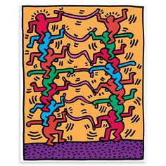 HARING Untitled 1985 de Pop Art, 43x54 cm