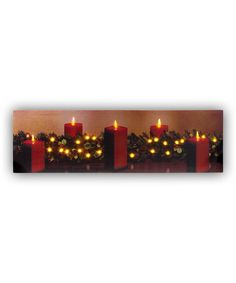 Look at this #zulilyfind! Holly & Candle Light-Up Canvas by Ohio Wholesale, Inc. #zulilyfinds