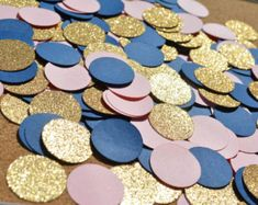 Gold Glitter, Navy & Baby Pink CONFETTI for your next baby shower, birthday… Gold Wedding, Dream Wedding, Wedding Day, Wedding Venues, Wedding Bells, Perfect Wedding, Wedding Decor, Blush And Gold, Navy Gold