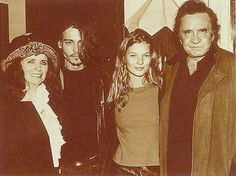 June Carter, Johnny Depp, Kate Moss and Johnny Cash.