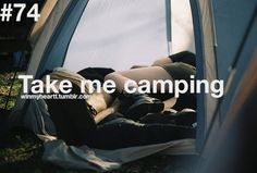 I'm so glad we both love the outdoors and aren't solely hotel people, because camping is so much more fun :)