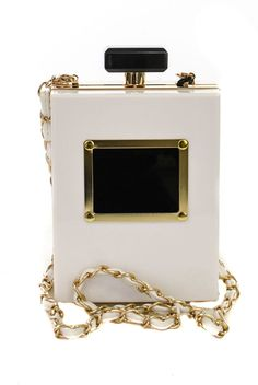 Large Perfume Shape Clutch With Metal Strap #GetEverythingElse #Clutch