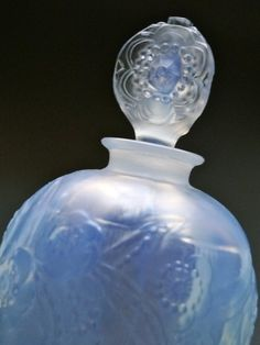 Vintage French Opalescent Sabino Glass Perfume Bottle