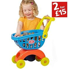 Buy Chad Valley Shopping Trolley at Argos.co.uk, visit Argos.co.uk to shop online for 2 for 15 pounds on Toys, Shopping role play, Toys under 10 pounds