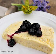 Lemon SemiFreddo with Blueberries..An amazing luscious dessert.  Cool and creamy with the wonderful flavors of lemon and blueberry.