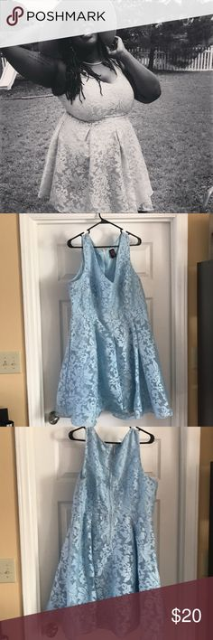 Light Blue Dress Blue Tea dress from the Rebel Wilson collection. Worn once , label size is 16 fits true to size. torrid Dresses Midi
