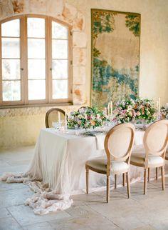 Blush Wedding Table Luxurious Purple and Blush Spring Wedding Decor Spring Wedding Decorations, Table Decorations, French Wedding Decor, Old World Wedding Decor, Wedding Centerpieces, Wedding Table Settings, Table Wedding, Place Settings, Wedding Ceremony