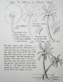 Worksheet for art lesson on how to draw a palm tree. GREAT SITE for drawing tutes for young artists Worksheet for art lesson on how to draw a palm tree. GREAT SITE for drawing tutes for young artists Drawing Lessons, Drawing Techniques, Art Tutorials, Drawing Tutorials, Palm Tree Crafts, Palm Tree Drawing, Palm Tree Sketch, Art Worksheets, Easy Drawings