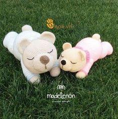 Best 12 Sleepy Bear amigurumi pattern by Madelenon Giraffe Crochet, Crochet Bunny Pattern, Crochet Animal Patterns, Amigurumi Patterns, Doll Patterns, Diy Crochet Toys, Crochet Baby, Crochet Projects, Sleepy Bear