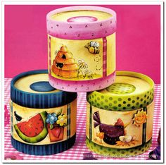 CAJAS DE CARTÓN DECORADAS (PINTURA COUNTRY), EXPLICACIONES PASO A PASO Pintura Country, Country Crafts, Country Decor, Adult Crafts, Diy Crafts, Recycled Jars, Chickens And Roosters, Tea Box, Country Paintings