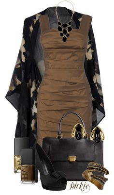 """""""Black and Brown"""" by jackie22 ❤ liked on Polyvore"""