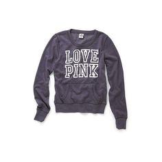 Fleece Crewneck ($25) ❤ liked on Polyvore featuring tops, hoodies, sweatshirts, sweaters, shirts, women, graphic crew neck sweatshirts, crew neck sweatshirts, graphic crewneck sweatshirt and graphic shirts