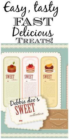 Easy, tasty, sweet dessert recipes