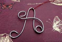 Wire Letter Ornaments