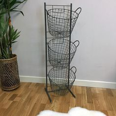 Wire 3 Basket Tiered Storage - Large from The Farthing