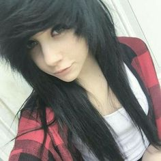 Emo Hairstyle For Girls Hairstyle Pinterest Emo Hairstyles - Emo girl hairstyle video