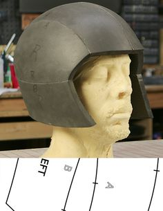 This simple PDF template can be printed out on any letter sized printer and be used to make your own basic helmet form out of EVA foam.