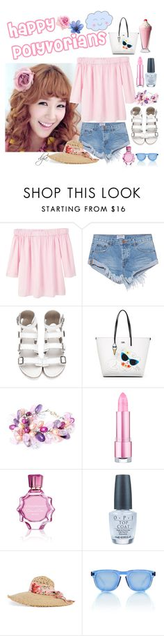 """""""Happy Polyvorians"""" by dgia ❤ liked on Polyvore featuring MANGO, OneTeaspoon, Karl Lagerfeld, NOVICA, Oscar de la Renta, OPI, Gucci and Ross & Brown"""