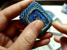How to Bead A Cabochon by Beth Murr  http://www.youtube.com/watch?v=ZbClQ5q4HKU#