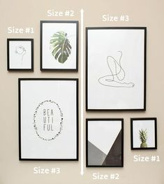 Modern Minimalist Gallery Wall Guide for Beginners Mirrored gallery wall using 3 sizes mirrored from left to right.Mirrored gallery wall using 3 sizes mirrored from left to right. Gallery Wall Bedroom, Gallery Wall Layout, Mirror Gallery Wall, Gallery Gallery, Photo Gallery Walls, Modern Gallery Wall, Photo Walls, Modern Wall Decor, Fashion Gallery