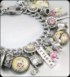 Tea Charm Bracelet, Jewelry Tea, The English Tea Bracelet, Teacup Bracelet, Tea Jewelry, Teapot Charms on Etsy, $123.00